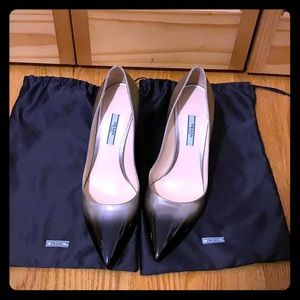 Prada Pointy Toe Patent Leather Pumps in Ombré